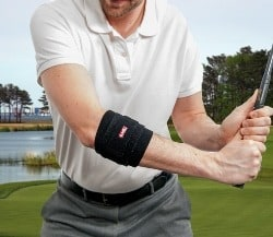 Elbow wrap on golf course