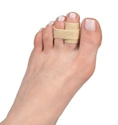 3pp Toe Loops for jammed, sprained or broken toes
