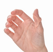 Oval-8 finger splint for trigger thumb