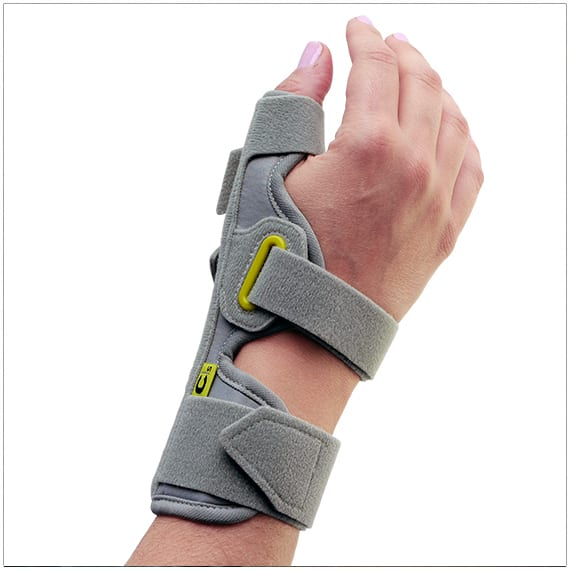 3pp ez fit thumspica splint for de quervains, gamekeepers thumb or skiers thumb