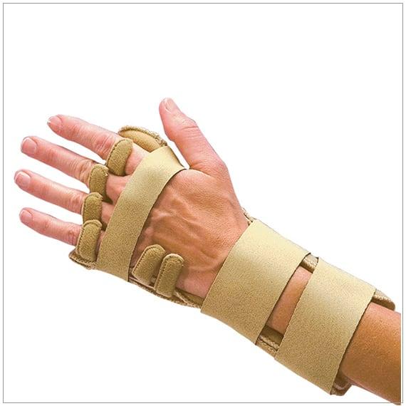 comforter night time splint for resting ulnar deviation