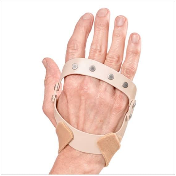 polucentric hinged splint for ulnar deviation