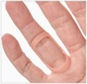 oval-8 finger splint for trigger finger