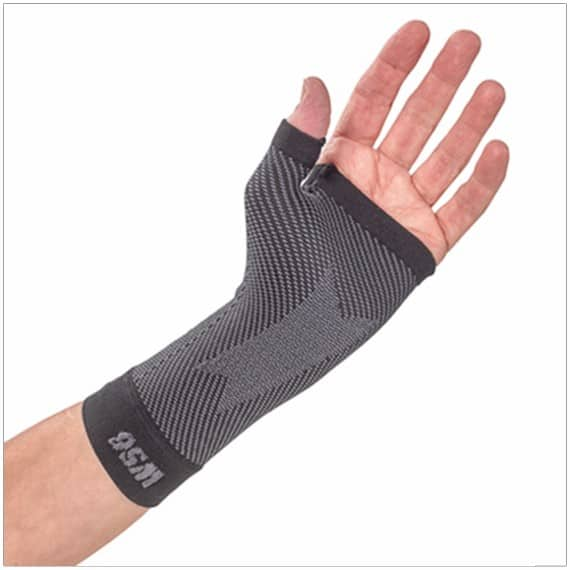 wrist compression sleeve for carpal tunnel syndrome or tendinitis